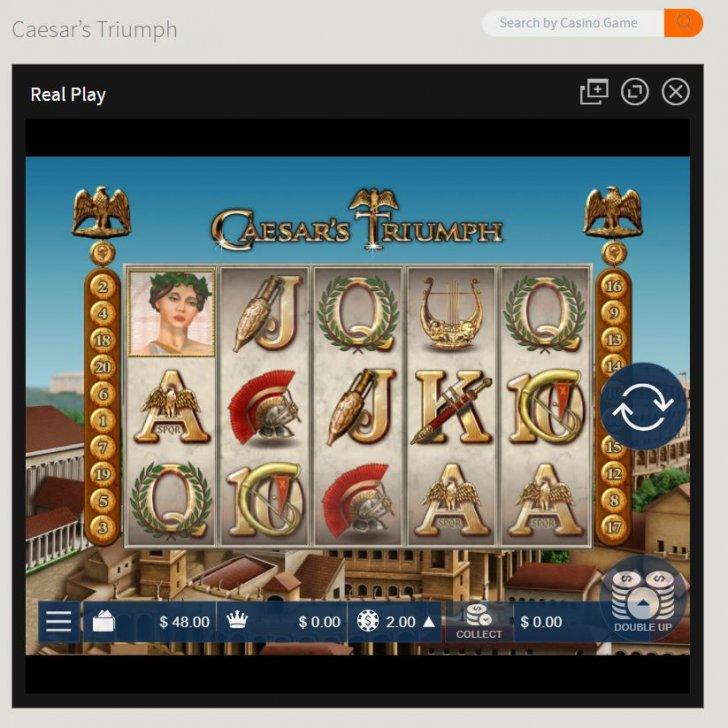 Ignition Casino 5_Palying Caesar's Triump slots.JPG